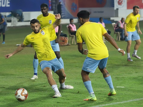 Mumbai City FC players while training. (Photo/ ISL)