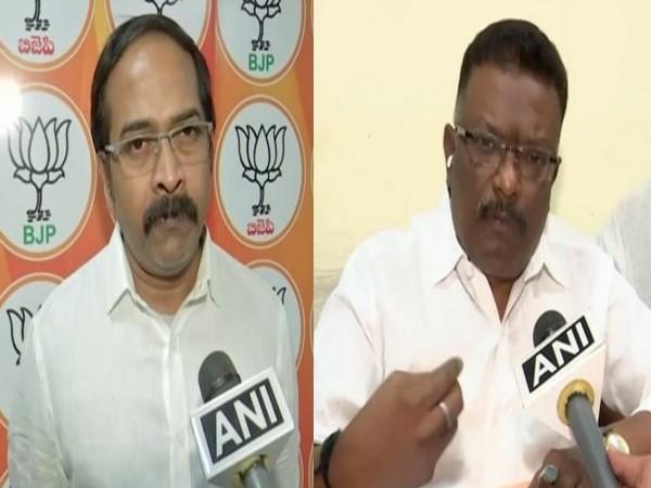 Telanagana BJP leader K Krishna Sagar Rao (left) and Congress National Spokesperson Sravan Dasoju (right). (File photo)
