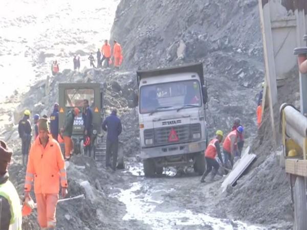 Rescue operations underway in Chamoli district of Uttarakhand.