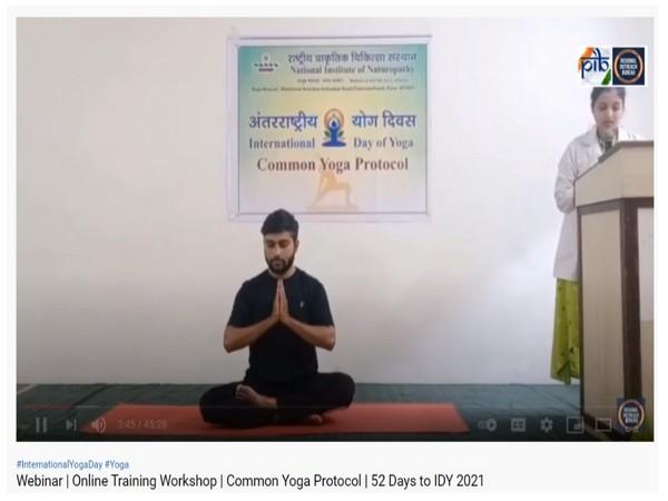 Visual of 100 day Yoga workshop series (Photo/PIB)