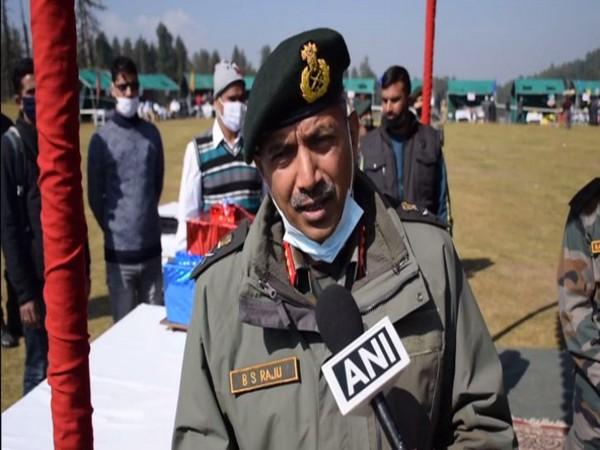 Lieutenant General BS Raju of General Officer Commanding (GOC) 15 Corps (Photo/ANI)