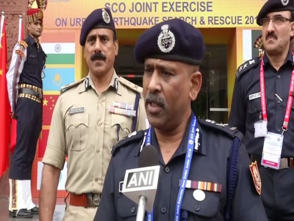SN Pradhan, Director General, NDRF  spoke to ANI on Thursday in New Delhi. Photo/ANI