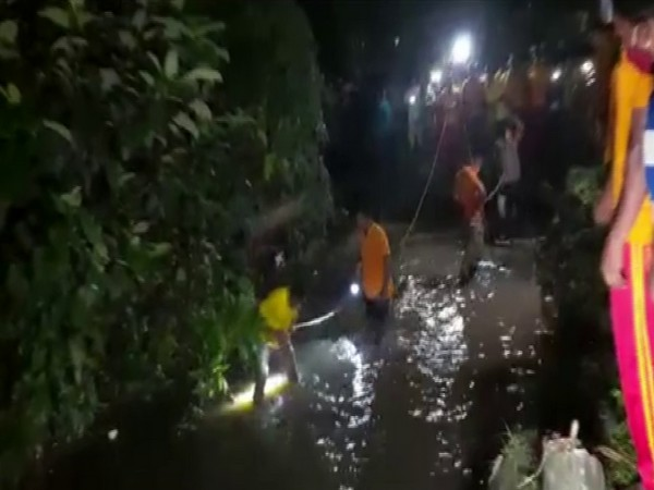 Visuals from the search opeartions in Bhubaneswar (Photo/ANI)