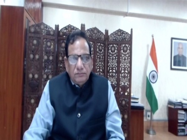 Dr VK Paul, Member (Health) NITI Aayog speaking to ANI over video conferencing  (Photo/ANI)