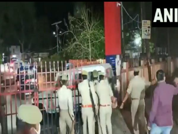 Visuals of Mukhtar Ansari being brought to Banda jail in Uttar Pradesh (Photo/ANI)