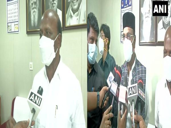 Tamil Nadu Health Minister M Subramaniam and Madhya Pradesh Health Minister Vishwas Sarang (right) (Photo/ANI)