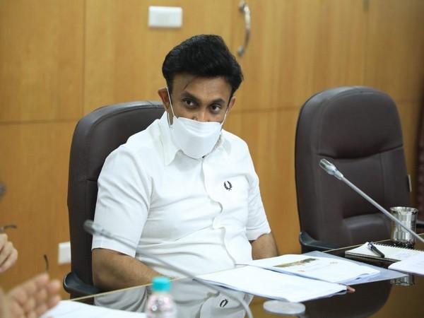 Karnataka Health and Medical Education Dr K Sudhakar (Photo/ANI)