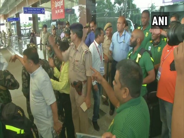 The South African team arrived at Dharamshala for the first T20I against India (Photo/ANI)