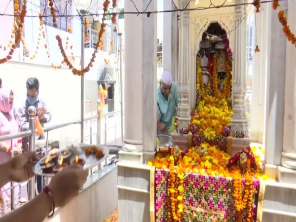 Mata Kheer Bhawani temple in Janipur, Jammu (Photo/ANI)