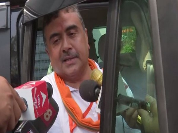 BJP leader Suvendu Adhikari speaking to media on Thursday.