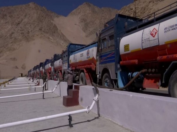 Fuel oil lubricant depot at Leh, Ladakh (Photo/ANI)