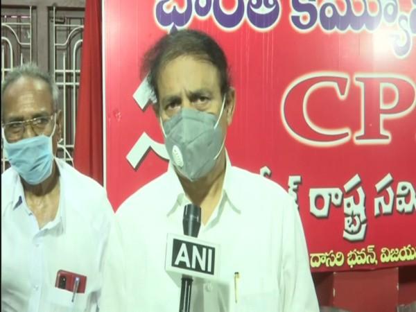 Communist Party of India's Andhra Pradesh State secretary K Ramakrishna (file photo)