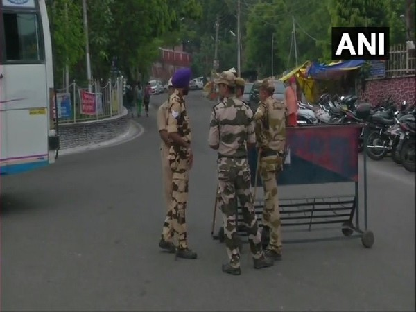 Security tightened in Jammu in view of the imposition of section 144 on August 5.