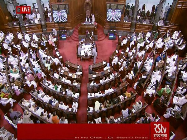 Rajya Sabha during debate on constitution amendment bill in monsoon session of Parliament on Wednesday.