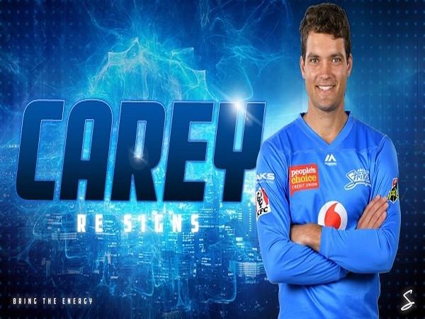 Australian wicketkeeper-batsman Alex Carey (Image: Adelaide Strikers' Twitter )
