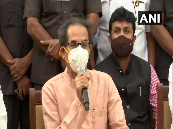 Maharashtra Chief Minister Uddhav Thackeray during a press conference on Wednesday. (Photo/ ANI)