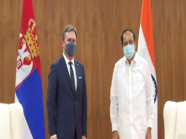 Serbian Foreign Minister calls on Vice President Naidu