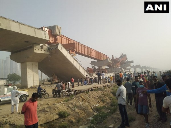 Visual of flyover that collapsed near Daulatabad