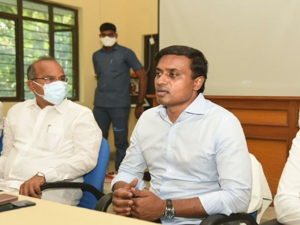 YSR Congress Party from Rajampet PV Midhun Reddy (left) (Pic courtesy: Facebook).