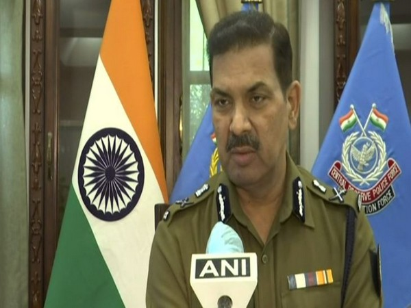 CRPF DG Kuldiep Singh speaking to ANI on Monday. (Photo/ANI)