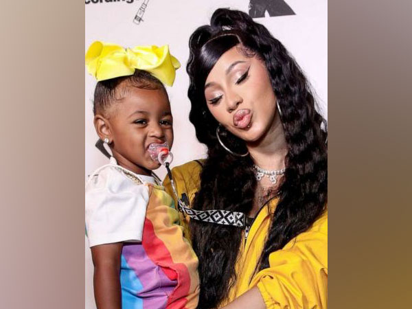 Cardi B with daughter Kulture (Image Source: Instagram)