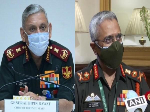 Chief of Defence Staff General Bipin Rawat and Army chief General Manoj Mukund Naravane  (File Photos/ANI)