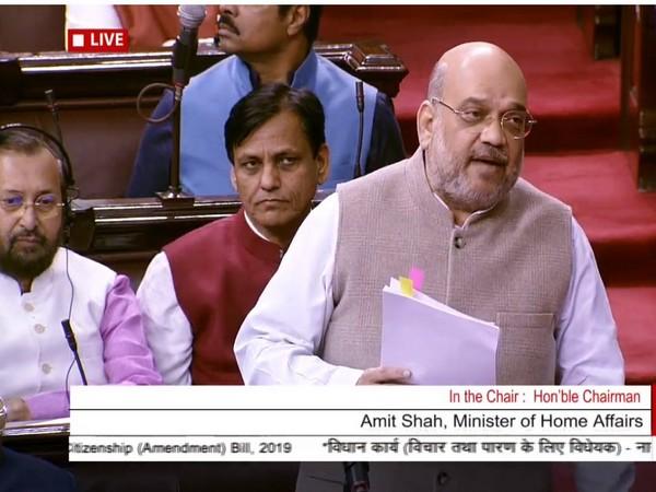 Union Home Minister Amit Shah speaking in Rajya Sabha on Wednesday.