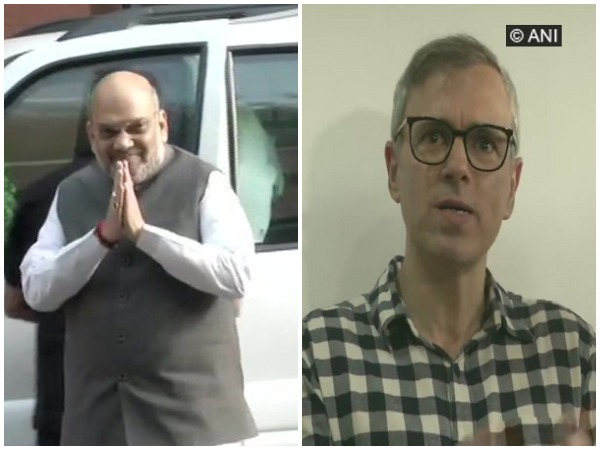 Union Home Minister Amit Shah and NC leader Omar Abdullah