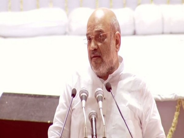 Home Minister Amit Shah speaking at an event organised to pay homage to former Union Minister Arun Jaitley on Tuesday. Photo/ANI