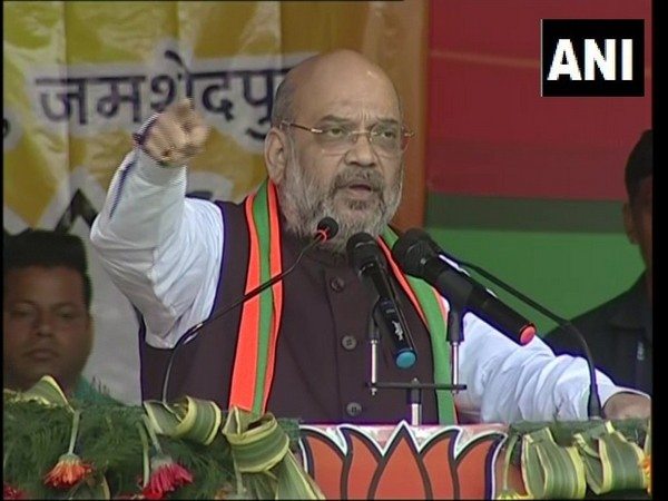 Union Home Minister Amit Shah addressing rally in Jamshedpur , Jharkhand on Monday