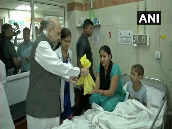 Union Home Minister Amit Shah at AIIMS on Saturday