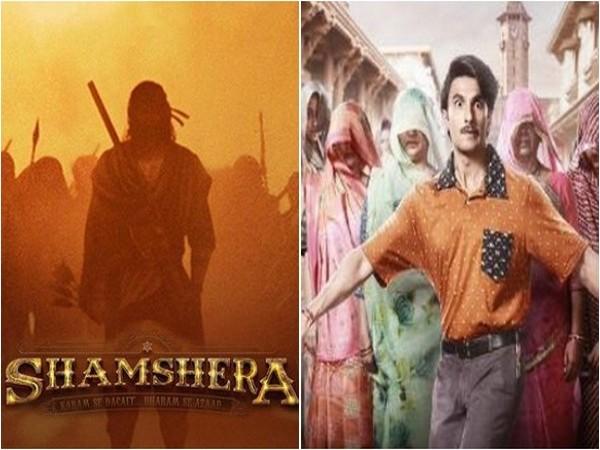 Poster of 'Shamshera' and Ranveer Singh's first look from 'Jayeshbhai Jordaar' (Image source: Instagram)
