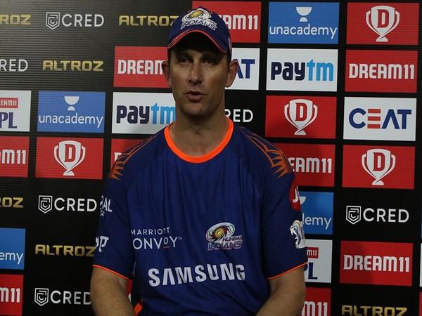 Mumbai Indians' bowling coach Shane Bond (Image: BCCI/IPL)