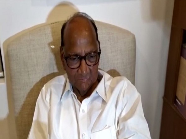 NCP chief Sharad Pawar during a conversation with reporters in Mumbai on Tuesday.
