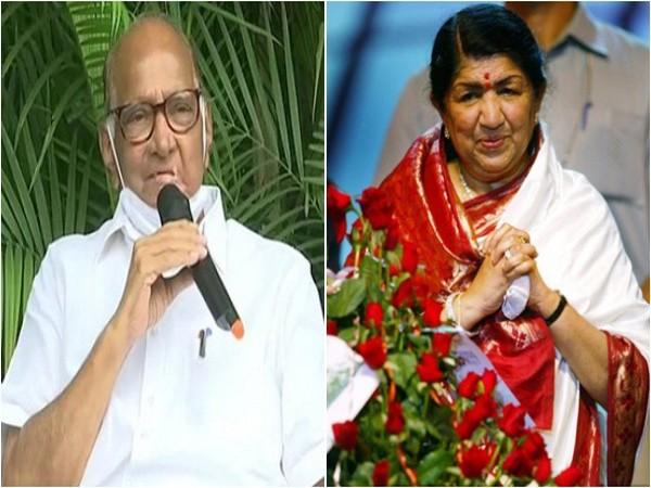 Sharad Pawar and Lata Mangeshkar