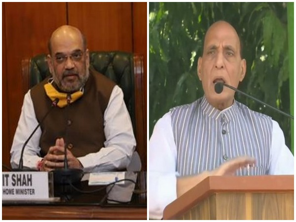 Union Home Minister Amit Shah and Defence Minister Rajnath Singh (File photo)