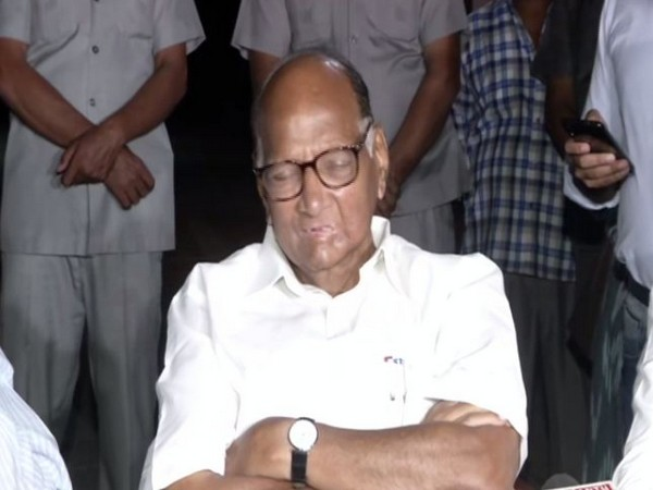 NCP Chief Sharad Pawar addressing media persons in New Delhi on Monday