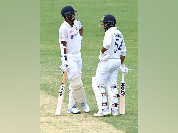 Sundar and Thakur stitched 123 runs at The Gabba. (Photo/ BCCI Twitter)