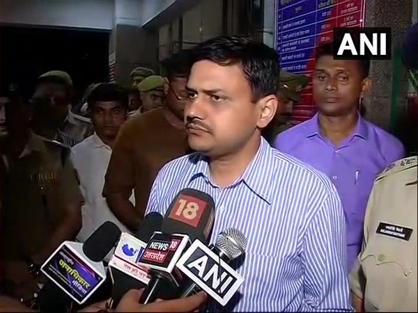 Lucknow District Magistrate Kaushal Raj Sharma speaking to reporters in Lucknow on Thursday. Photo/ANI