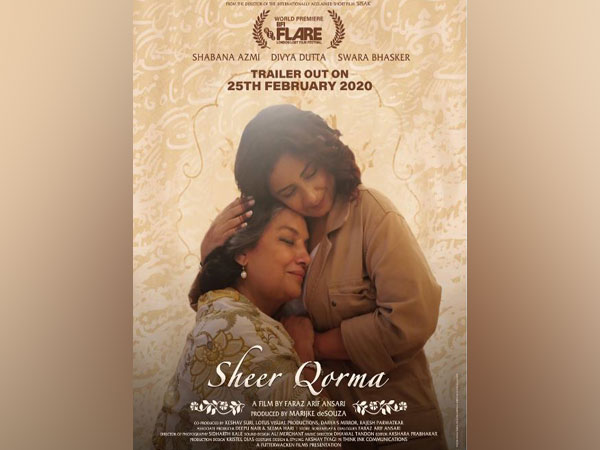 The poster shows Azmi and Dutta in a warm embrace with eyes closed and smiles on their faces (Picture Courtesy: Twitter)