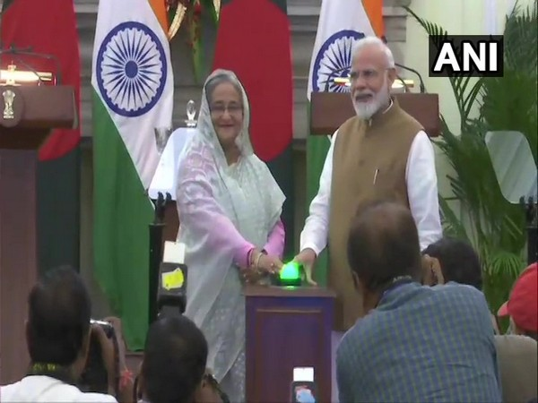 Prime Minister of Bangladesh Sheikh Hasina and Prime Minister Narendra Modi witness exchange of agreements, and inaugurate of bilateral projects between India and Bangladesh in New Delhi on Saturday