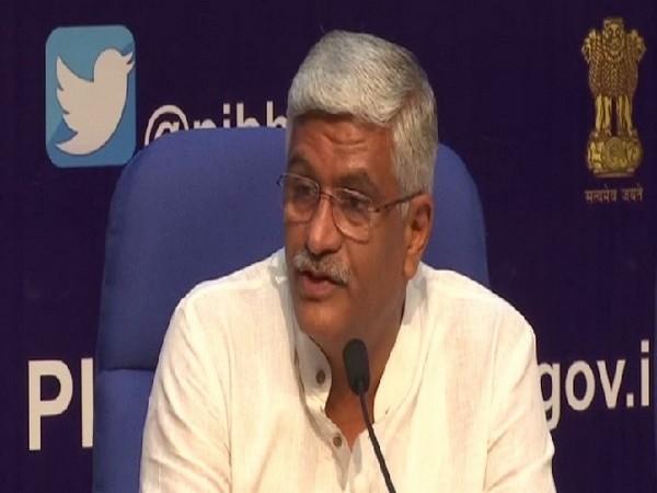 Union Minister of Jal Shakti, Gajendra Singh Shekhawat speaking to media in New Delhi on July 1. Photo/ANI.