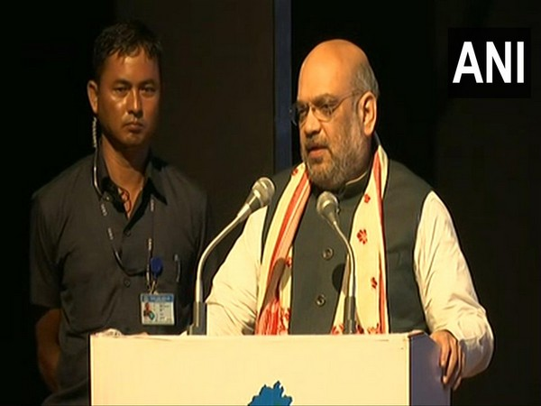 Union Home Minister Amit Shah speaking at NEDA meeting in Guwahati, Assam on Monday. Photo/ANI