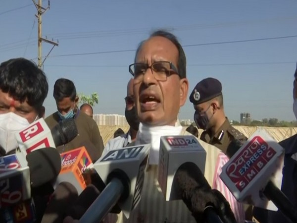 Madhya Pradesh Chief Minister Shivraj Singh Chouhan speaking to media on Monday.