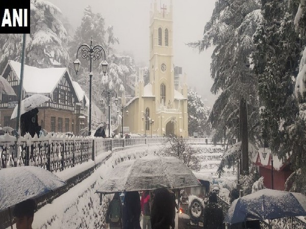 A visual from Shimla in Himachal Pradesh on Wednesday.