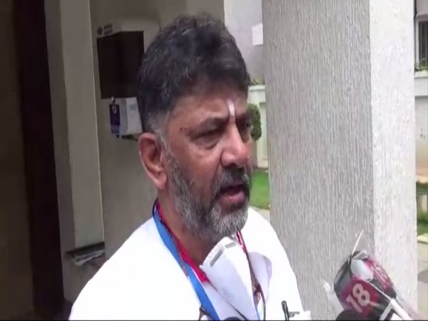 Karnataka Congress President DK Shivakumar speaking to reporters in Bengaluru on Wednesday. [Photo/ANI]
