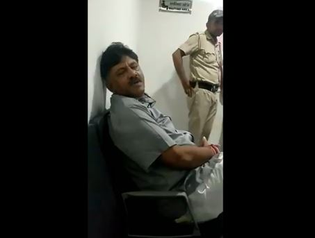Congress leader DK Shivakumar posted a seven second video on Twitter on Wednesday. Photo/Twitter@DKShivakumar