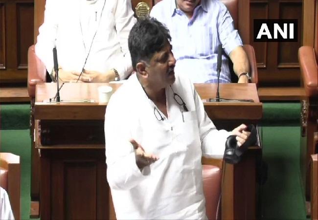 Congress leader DK Shivakumar speaking in Karnataka Assembly on July 22.