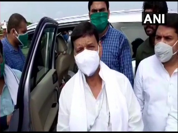Shivpal Yadav speaking to reporters in Etawah on Saturday. [Photo/ANI]