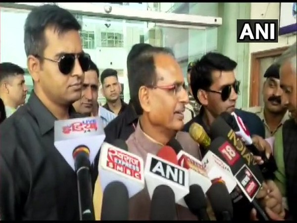 Shivraj Singh Chouhan speaking to reporters in Bhopal on Wednesday.